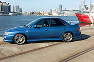 1998 MY98 Subaru Impreza WRX - WR Blue.Shot on location in Port Melbourne.28th February 2005.(C) Joel Strickland Photographics.Use information: This image is intended for Editorial use only (e.g. news or commentary, print or electronic). Any commercial or promotional use requires additional clearance.