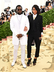 Cassie and Sean Combs attending the Metropolitan Museum of Art Costume Institute Benefit Gala 2018 in New York, USA. PRESS ASSOCIATION Photo. Picture date: Picture date: Monday May 7, 2018. See PA story SHOWBIZ MET Gala. Photo credit should read: Ian West/PA Wire