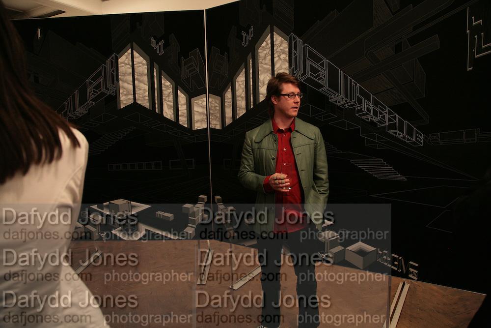 Ian Munroe, Planit- Exhibition of work by Ian Munroe. Haunch of Venison. London. 1 March 2007.  -DO NOT ARCHIVE-© Copyright Photograph by Dafydd Jones. 248 Clapham Rd. London SW9 0PZ. Tel 0207 820 0771. www.dafjones.com.