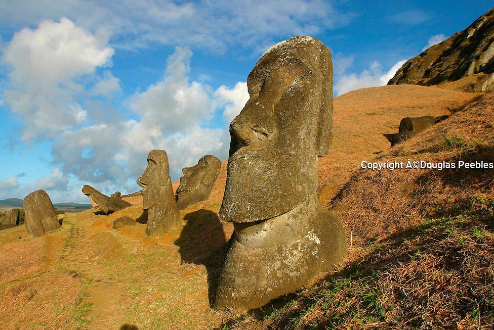 Rano Raraku, Moai (statue) quarry, Easter Island, Chile