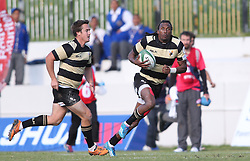 Daniel Demas of Boland on the attack during the Currie Cup premier division match between the Boland Cavaliers and The Pumas held at Boland Stadium, Wellington, South Africa on the 2nd September 2016<br /> <br /> Photo by:   Shaun Roy/ Real Time Images