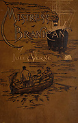from the book ' Mistress Branican ' by Jules Verne, illustrated by Leon Benett. The story begins in the United States, where the heroine, Mistress Branican, suffers a mental breakdown after the death by drowning of her young son. On recovering, she learns that her husband, Captain Branican, has been reported lost at sea. Having acquired a fortune, she is able to launch an expedition to search for her husband, who she is convinced is still alive. She leads the expedition herself and trail leads her into the Australian hinterland. Mistress Branican (French: Mistress Branican, 1891) is an adventure novel written by Jules Verne and based on Colonel Peter Egerton Warburton and Ernest Giles accounts of their journeys across the Western Australian deserts, and inspired by the search launched by Lady Franklin when her husband Sir John Franklin was reported lost in the Northwest Passage. Translated by A. Estoclet, Published in New York, Cassell Pub. Co. 1891.