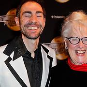 NLD/Amsterdam/20120217 - Premiere Saturday Night Fever, Johan Nijenhuis en zijn moeder