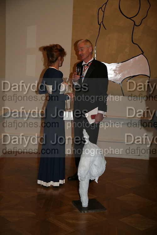 MARIANNE SACHS AND JAMES DYSON, 240th Royal Academy Summer Exhibition. Annual dinner. Piccadilly. London. 3 June 2008.  *** Local Caption *** -DO NOT ARCHIVE-© Copyright Photograph by Dafydd Jones. 248 Clapham Rd. London SW9 0PZ. Tel 0207 820 0771. www.dafjones.com.