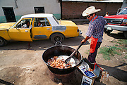 Cooking chicaronnes, Mexico