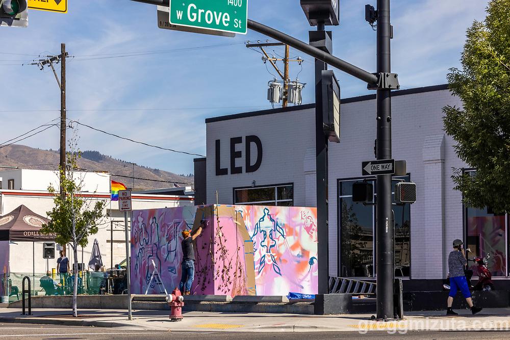 Elijah Jensen Lindsey and William Lewis's Artfort project at LED in Boise, Idaho on September 23, 2021.