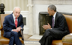 President Barack Obama meets with Israeli President Shimon Peres in the Oval Office of the White House, June 25, 2014 in Washington, DC, USA. Photo by Olivier Douliery/ABACAPRESS.COM