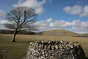 Rural landscape on the path to Malham Tarn in the Yorkshire Dales National Park, on 12th April 2017, in Malham, Yorkshire, England.