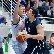 Anadolu Efes's Estaban BATISTA (R) during their Turkey Cup Qualifying basketball first match Anadolu Efes between Turk Telekom at Aliaga Arena in Izmir, Turkey, Sunday, October 9, 2011. Photo by TURKPIX