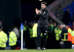 Lincoln City Manager Danny Cowley applauds the fans at the end of the match