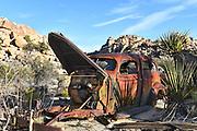 Old Rusted Car at Keys Ranch Joshua Tree National Park