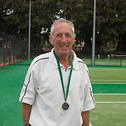 Arthur Newnham, Australia, Runner Up 85 Mens Singles during the 2009 ITF Super-Seniors World Team and Individual Championships at Perth, Western Australia, between 2-15th November, 2009.