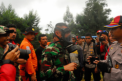 June 27, 2017 - Berastagi, North Sumatera, Indonesia - About one hundred fifty people have been mobilized to look for Walter Klaus, a German hiker that was lost when climbing the Mount Sibayak, accompanied his wife and the family of Walter Klaus. (Credit Image: © Sabirin Manurung/Pacific Press via ZUMA Wire)