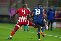 PIRAEUS, GREECE - DECEMBER 09: Chancel Mbemba of FC Porto and Mohamed Camara of Olympiacos FC during the UEFA Champions League Group C stage match between Olympiacos FC and FC Porto at Karaiskakis Stadium on December 9, 2020 in Piraeus, Greece. (Photo by MB Media)