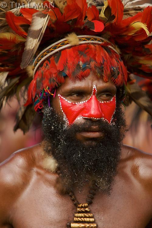 Man from Chimbu Province..Goroka, Eastern Highlands Province, Papua New Guinea.