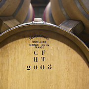 Tonnellerie  Wine barrels at the cellar door at Cloudy Bay Vineyard, Jackson Road, Marlborough, New Zealand..The winery and vineyards are situated in the Wairau Valley in Marlborough at the northern end of New Zealand's South Island. This unique and cool wine region enjoys a maritime climate with the longest hours of sunshine of any place in New Zealand. Wairau Valley, Marlborough, New Zealand. 9th February 2011. Photo Tim Clayton