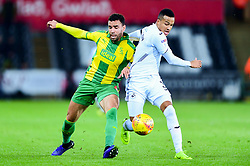 Hal Robson-Kanu of West Bromwich Albion is challenged by Martin Olsson of Swansea City - Mandatory by-line: Ryan Hiscott/JMP - 28/11/2018 - FOOTBALL - Liberty Stadium - Swansea, England - Swansea City v West Bromwich Albion - Sky Bet Championship