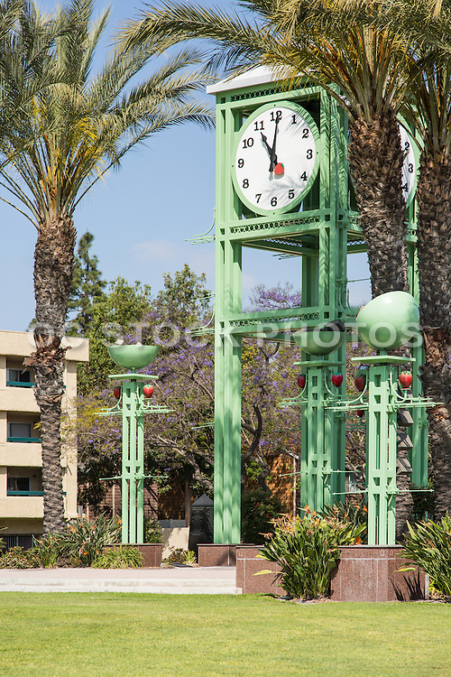 Garden Grove Clock Tower at the Entrance to the Village Green Park