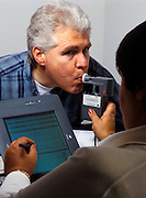 Breathalizer test administered in the work setting to determine alchohol consumption.