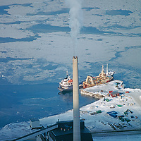 A freighter loads coal mined at Longyearbyen, Norway's northernmost town.