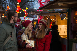 Friends at Christmas market