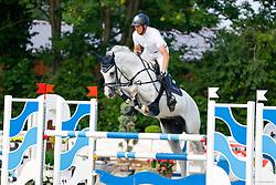 08, Youngster-Springprfg. Kl. M* 6-8j. Pferde,, Ehlersdorf, Reitanlage Jörg Naeve, 15. - 18.07.2021, Andre Thieme (GER), Choocy woccy,