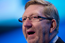 © London News Pictures. 23/09/2013 . Brighton, UK.   General Secretary of Unite, LEN MCCLUSKEY speaking on day two of the Labour Party Annual Conference in Brighton. Photo credit : Ben Cawthra/LNP