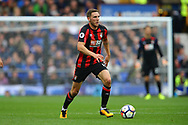 Dan Gosling of Bournemouth in action. Premier league match, Everton vs Bournemouth at Goodison Park in Liverpool, Merseyside on Saturday 23rd September 2017.<br /> pic by Chris Stading, Andrew Orchard sports photography.