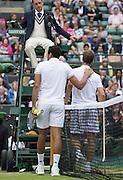 WIMBLEDON - GB -  4th July 2016: The Wimbledon Tennis Championship continues at the All England Lawn Tennis Club in S.E. London.<br /> <br /> Richard Gasquet vs Jo-Wilfried Tsonga<br /> ©Ian Jones/Exclusivepix Media