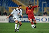 """Jeremy Menez and Gourcuff<br /> Roma 9/12/2008 Stadio """"Olimpico"""" <br /> Champions League 2008/2009<br /> Roma Bordeaux<br /> Foto Andrea Staccioli Insidefoto"""