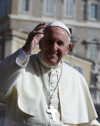 April 25, 2018  - Vatican City State (Holy See) - POPE FRANCIS during his wednesday general audience in St. Petr's Square at the Vatican. (Credit Image: © Evandro Inetti via ZUMA Wire)
