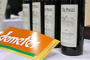 Italian wine with the label Demeter i tre poggi piemont italy