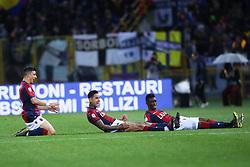 """Foto LaPresse/Filippo Rubin<br /> 13/05/2019 Bologna (Italia)<br /> Sport Calcio<br /> Bologna - Parmai - Campionato di calcio Serie A 2018/2019 - Stadio """"Renato Dall'Ara""""<br /> Nella foto: ESULTANZA GOAL BOLOGNA ERICK PULGAR (BOLOGNA F.C.)<br /> <br /> Photo LaPresse/Filippo Rubin<br /> May 13, 2019 Ferrara (Italy)<br /> Sport Soccer<br /> Bologna vs Parma - Italian Football Championship League A 2018/2019 - """"Dall'Ara"""" Stadium <br /> In the pic: CELEBRATION GOAL ERICK PULGAR (BOLOGNA F.C.)"""