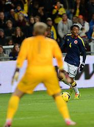 19-11-2013 VOETBAL: NEDERLAND - COLOMBIA: AMSTERDAM<br /> Nederland speelt met 0-0 gelijk tegen Colombia / Juan Guillermo Cuadrado <br /> ©2013-FotoHoogendoorn.nl