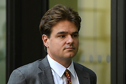 © Licensed to London News Pictures. 26/05/2016. London, UK. ALEXANDER ECONOMOU, the son of shipping magnate Angelo Economou, arrives at Westminster Magistrates Court in London where he faces charges of harassment. Alexander Economou is accused of harassing David de Freitas, the father of his former girlfriend, Eleanor de Freitas, who killed herself after she alleged rape against Alexander Economou. Photo credit: Ben Cawthra/LNP
