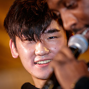 NLD/Almere/20190117 - Stare down van Boxing Influencers, Hanwe Chang