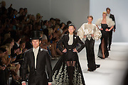 Finale of the Zang Toi Spring 2013 show at Fashion Week in New York.