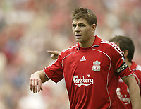 Photo: Aidan Ellis.<br /> Liverpool v Wigan Athletic. The Barclays Premiership. 21/04/2007.<br /> Liverpool;'s Steven Gerrard