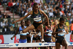 BRUSSELS, Sept. 1, 2018  Beatrice Chepkoech of Kenya competes during the women's 3,000m steeplechase at the IAAF Diamond League athletics meeting in Brussels, Belgium, Aug. 31, 2018. Beatrice Chepkoech claimed the title in a time of 8 minutes and 55.10 seconds. (Credit Image: © Zheng Huansong/Xinhua via ZUMA Wire)