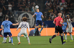 August 12, 2017 - Carson, CA, USA - Carson, CA - Saturday August 12, 2017: Frederic Brilliant during a Major League Soccer (MLS) game between the Los Angeles Galaxy and the New York City FC at StubHub Center. (Credit Image: © Michael Janosz/ISIPhotos via ZUMA Wire)