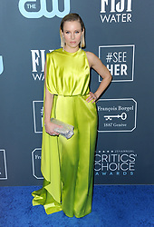 Kristen Bell at the 25th Annual Critics' Choice Awards held at the Barker Hangar in Santa Monica, USA on January 12, 2020.
