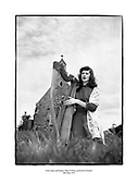Irish singer and harpist, Mary O'Hara, pictured at Clontarf<br /> <br /> 20th May 1954