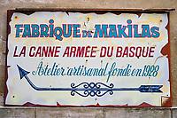 France, Pyrénées-Atlantiques (64), Bayonne, fabrique de Makilas // France, Pyrénées-Atlantiques (64), Bayonne, Makilas factory