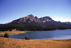 Brooks Lake, the pinnacles, Absaroka Range, Dubois, Wyoming