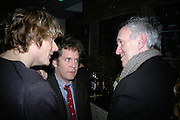 Julian Rhind-Tutt, Tom Hollander and Jonathan Pryce, Tom Cairns directs Almeida Fundraising Benefit sponsored by Coutts and Co. -A Chain Play by Samuel Adamson, Moira Buffini, David Hare, Charlotte Jones, Frank McGuinness and Roy Williams. Almeida theatre. London. 23 March 2007.  -DO NOT ARCHIVE-© Copyright Photograph by Dafydd Jones. 248 Clapham Rd. London SW9 0PZ. Tel 0207 820 0771. www.dafjones.com.