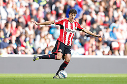Santiago Vergini of Sunderland in action - Photo mandatory by-line: Rogan Thomson/JMP - 07966 386802 - 27/08/2014 - SPORT - FOOTBALL - Sunderland, England - Stadium of Light - Sunderland v Swansea City - Barclays Premier League.