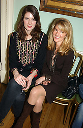 Left to right, LADY SOPHIE HAMILTON and AVERY AGNELLI at a party to celebrate the publication of Andrew Robert's new book 'Waterloo: Napoleon's Last Gamble' and the launch of the paperback version of Leonie Fried's book 'Catherine de Medici' held at the English-Speaking Union, Dartmouth House, 37 Charles Street, London W1 on 8th February 2005.<br />