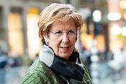 Nieuwjaarsontvangst voor Nederlandse genodigden op het Koninklijk Paleis op de Dam.<br /> <br /> op de foto:  Annemarie Jorritsma