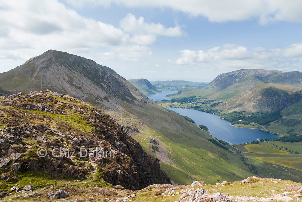 View over Buttermere and Crummock Water from Haystacks