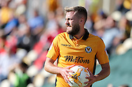 Daniel Butler of Newport county prepares to take a throw-in.  EFL Skybet football league two match, Newport county v Cheltenham Town at Rodney Parade in Newport, South Wales on Saturday 10th September 2016.<br /> pic by Andrew Orchard, Andrew Orchard sports photography.